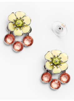 Flower & Gem Earrings