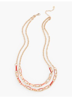Long Enamel-Link Necklace