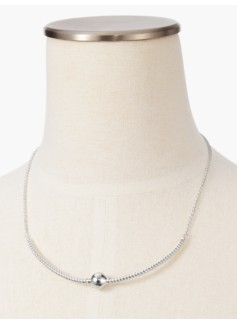 Sterling Silver Ball Collar Necklace