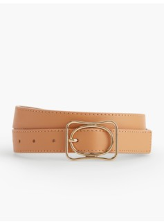 Double Buckle Belt-Pebbled Leather