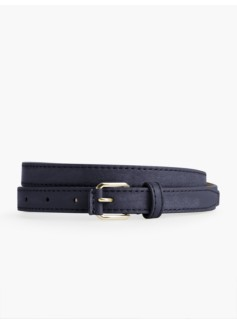 Womans Pebbled Leather Belt