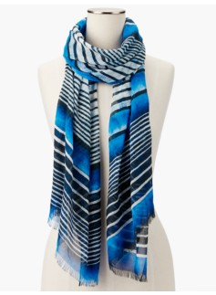 Painterly Stripes Scarf