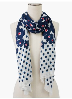 Dots & Flowers Scarf