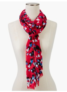 Watercolor Hearts Scarf