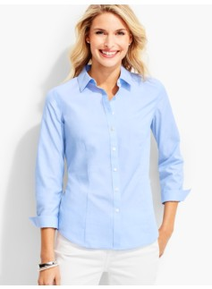 The Perfect Three-Quarter-Sleeve Shirt-End-On-End