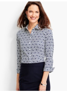 The Perfect Three-Quarter-Sleeve Shirt-Knot Print
