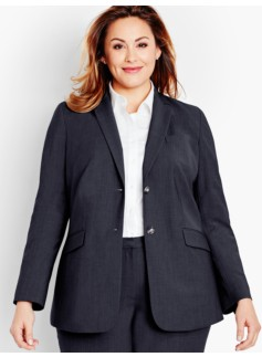 Seasonless Wool Double-Button Blazer-Long-Length