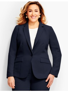 Refined Crepe Hip-Length Blazer