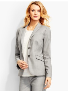 Westport Tweed Double-Button Blazer