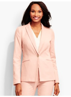 Dartmouth Herringbone Single-Button Blazer