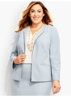 Luxe Italian Double-Weave Zip-Front Jacket-Newport Collection