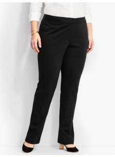 Luxe Italian Knit Subtle Bootcut Pant