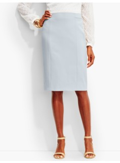 Luxe Italian Double-Weave Pencil Skirt-Newport Collection