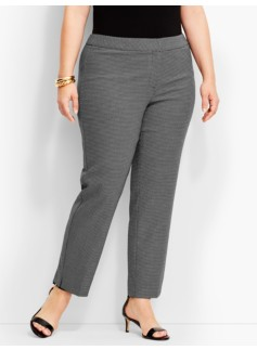 Womans Strafford Dobby-Weave Straight-Leg Pant