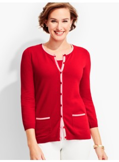 Charming Cardigan-Tipping Trimmed