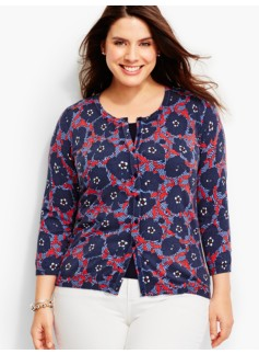 Charming Cardigan-Poppy Flowers